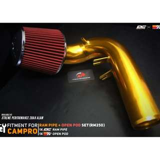 DC Sport Ram Pipe for Campro with Open Pod Air Filter KNN Package set