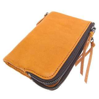 The Ninja Co. Top Grain Leather Billfold Coin Wallet Men Women Card Purse Holder Gifts Birthday NJ 8849