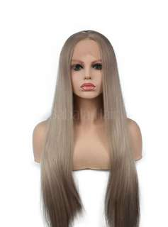 Blonde synthetic wig