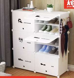 Sturdy modern white shoes rack cabinet