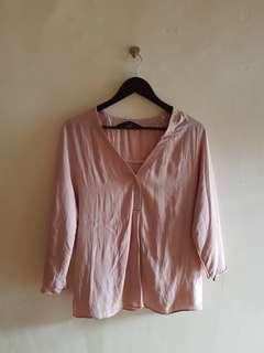 Zara Baby Pink Blouse