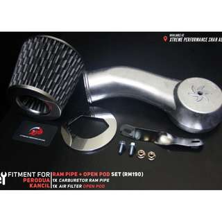 Carburetor Ram Pipe for Perodua Kancil 660 850 with Open Pod Carbon