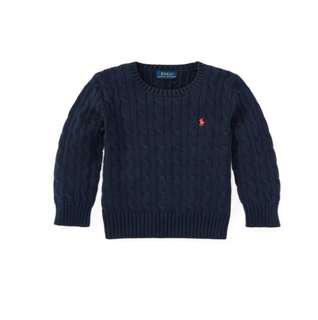 BNWT Ralph Polo Cable knit sweater 4T
