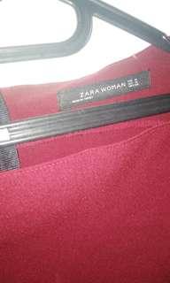 Zara woman red dress