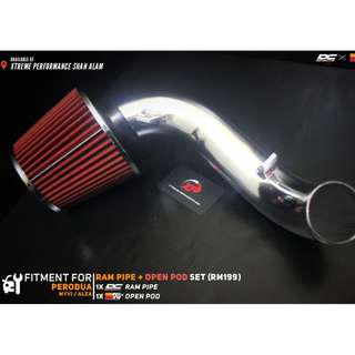 Ram Pipe for Perodua Myvi Alza with Open pod Air Filter KNN Package set