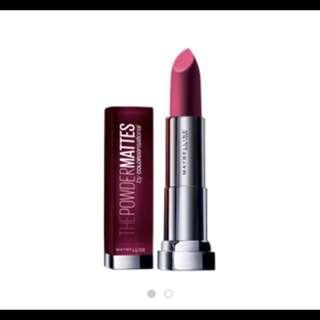 Maybelline Lipstick 粉緻柔滑霧面唇膏 matte唇膏