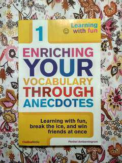 "Buku Belajar Vocabulary Bahasa Inggris ""Enriching Your Vocabulary Through Anecdotes"""