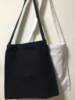 Canvas Plain Tote Bag Korean Style (M) good material