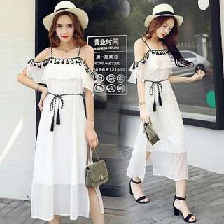 Korean Tassel Dress