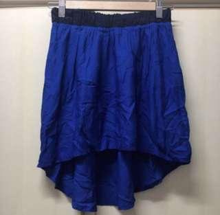 from Bershka dazzle blue and navy line skirt / dress 藍色 前短後長 裙 可 高腰 有底裙 沙灘 夏日 度假