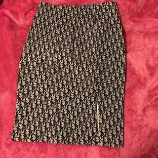Dior monogram skirt