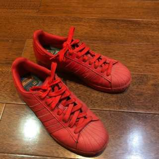 Red Adidas Superstar Pharell William Edition