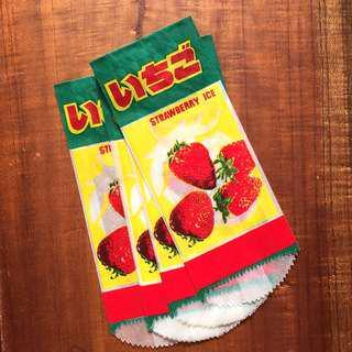 🚚 早期冰棒紙袋 草莓口味 8枚入