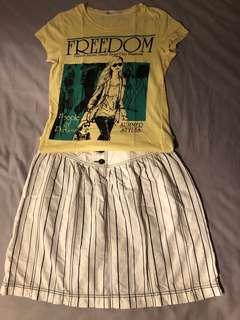 條紋半截裙