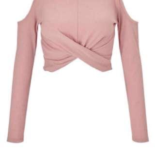 Miss Selfridge pink cropped top #50under