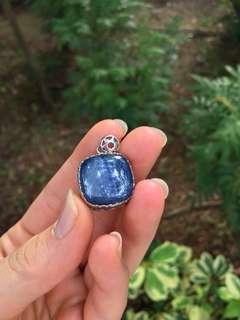 藍晶石銀鑲吊墜