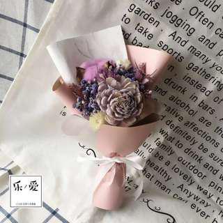 🚚 樂愛L'e Love 浪漫神秘的妳紫色系乾燥花束 畢業 生日