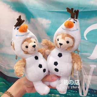 🚚 香港迪士尼 🇭🇰 達菲熊吊飾 雪寶