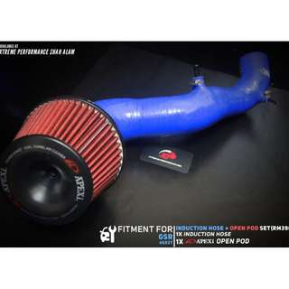 SAMCO Induction Hose for GSR 4G93 Turbo With Open Pod Air Filter Apexi Package