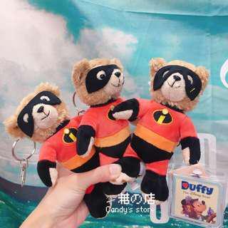 🚚 香港迪士尼 🇭🇰 達菲熊吊飾 超人特攻隊