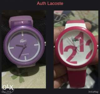 auth lacoste watches 2k each