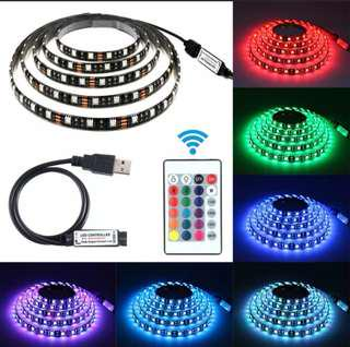 3M LED Strip Light 5050 Bar TV Back Lighting Kit with Remote Control