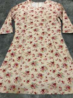 Flower dress ( jahit sendiri )