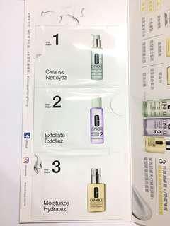 🌟Clinique Cleanse & Exfoliate & Mositurize Sample 1.5ml