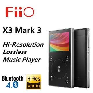 [CLEARANCE PRICE] FiiO X3 Mark III DSD Portable Music Player (BLACK)