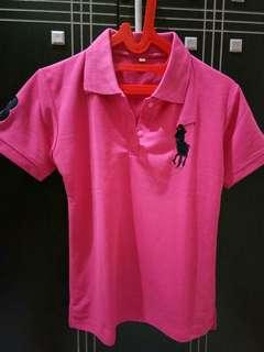 Atasan polo pink