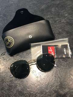 Authentic RayBan Round Metal Sunglasses