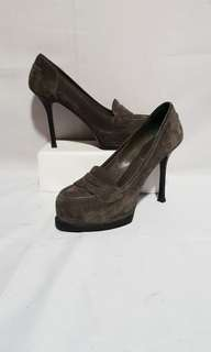 Authentic YSL Loafers Heels Stiletto Size 35 1/2