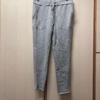 W.a.z.P. Japan grey pocket sport pants size M 全新 日本 淺 灰色 有袋 綿質 橡筋褲頭 運動褲 長褲。無著過,太多這種褲