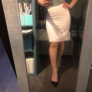 Blush Pencil Skirt XS