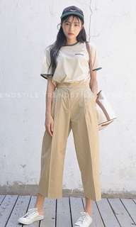 Vintage High Waisted Lightweight Ankle Pants Trousers Slacks