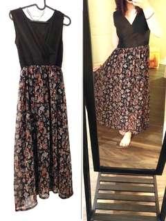 Two Tone Maxi Dress
