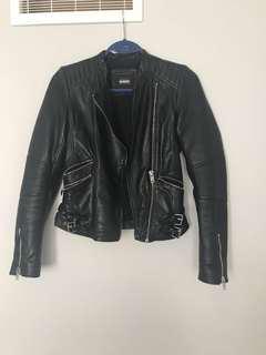 Xs genuine leather jacket