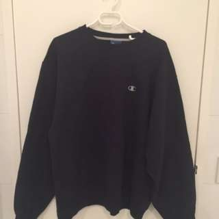 Extra Oversized Champion Sweater (Navy blue + XL)