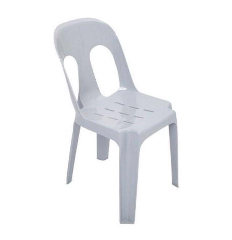 4 pcs Plastic Chair simple backrest - SALE, Furniture
