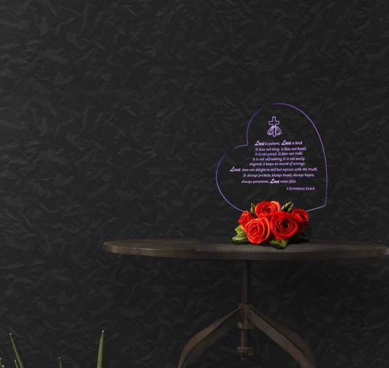 949) Giftgarden The True Meaning LOVE LED Light Heart Decor