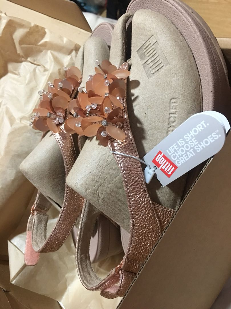 c729c9164ee 💯 Authentic Fitflop Boogaloo Backstrap Sandal Rose Gold