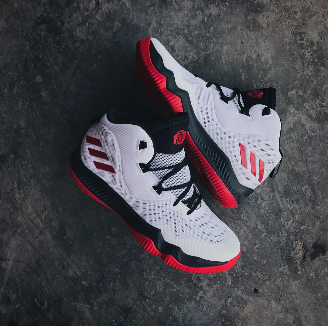 25976215916f Adidas D ROSE 773 VI Ultra White Scarlet