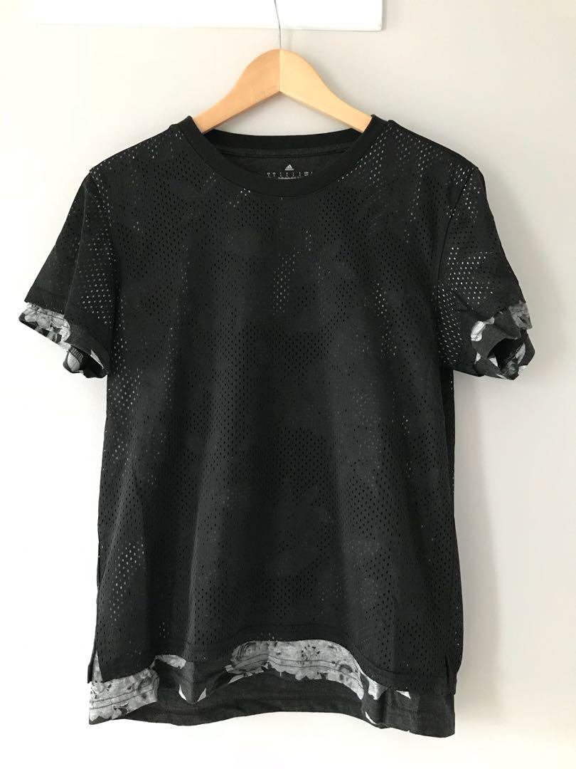 Adidas double layer t-shirt in size small
