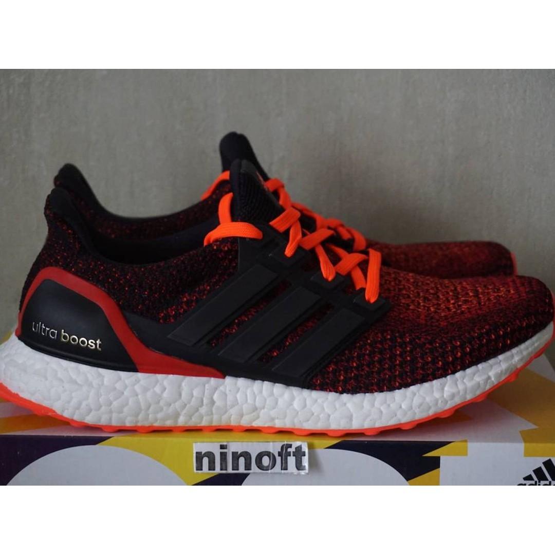 c8a51068e16a where can i buy adidas ultra boost 2.0 core black solar red mens fashion  footwear 0336b