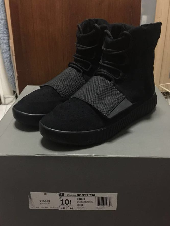 15bd9456a6a9 Adidas Yeezy 750 Triple Black   Pirate Black