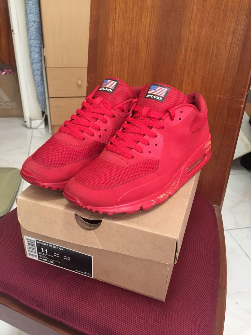 best cheap 1fc60 3cd61 Air Max 90 Hyp Qs 4th of July Independence day Sporty Red on ...
