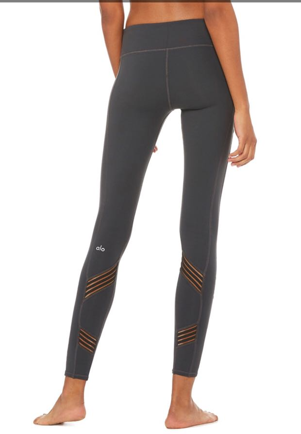 9974355b3be90 Alo Yoga Multi Legging in Anthracite, XS, Sports, Sports Apparel on  Carousell