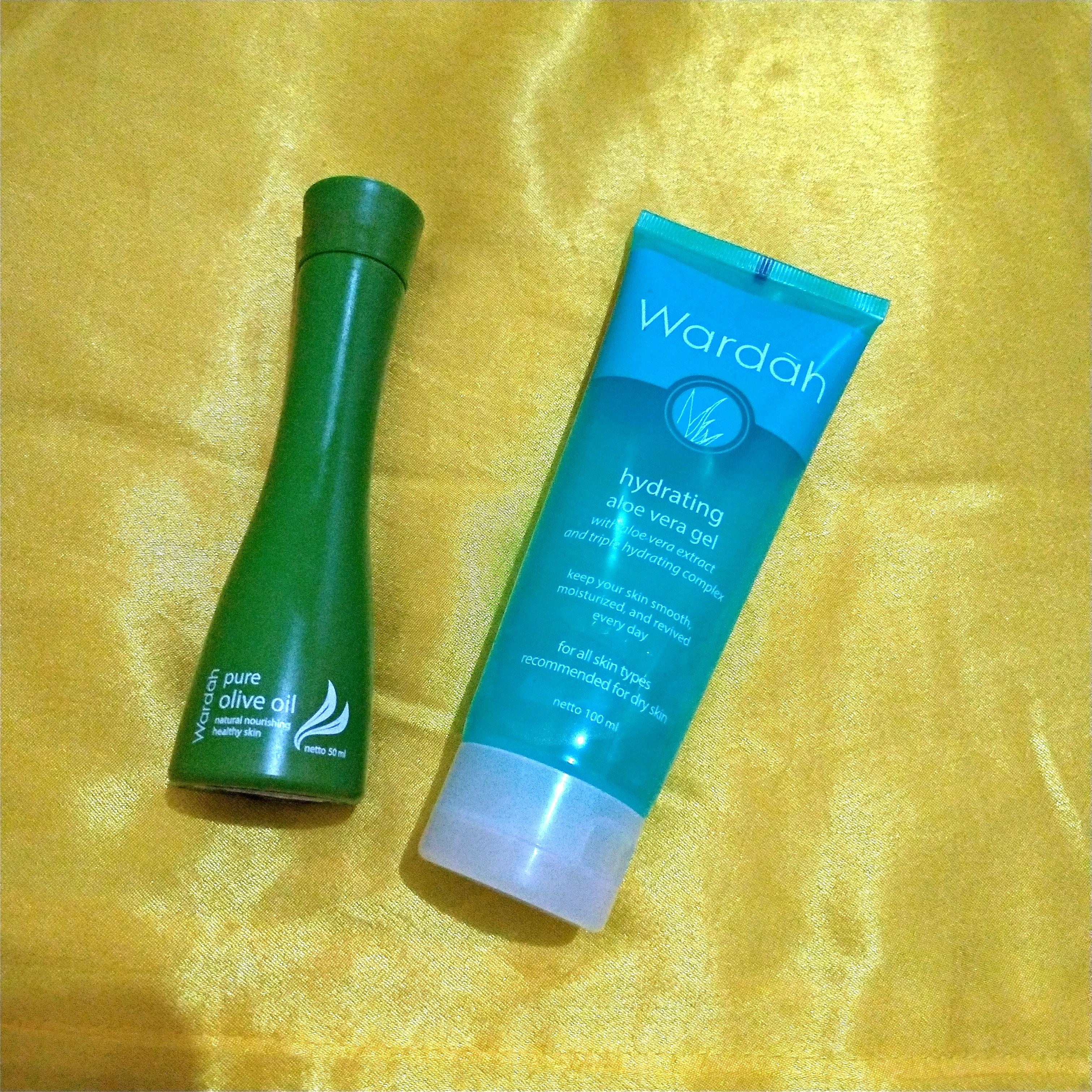 Aloe vera gel dan olive oil Kesehatan & Kecantikan Kulit Sabun & Tubuh di Carousell