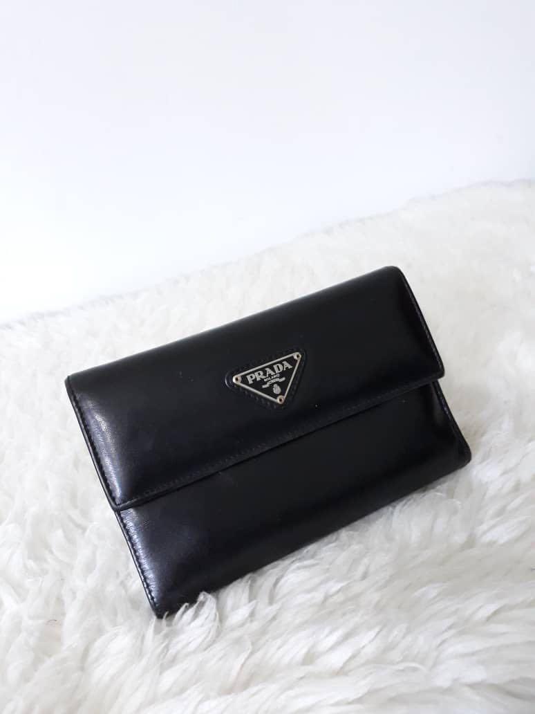 0c25e8925020 closeout prada purple saffiano leather six key holder 9f76e 985bf; greece  authentic prada milano trifold wallet luxury bags wallets on 54227 e35f0