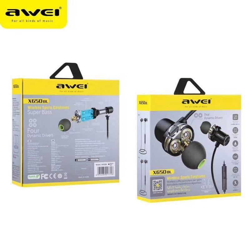 12ef20027f7 AWEI X650BL Wireless Earpiece, Electronics, Audio on Carousell